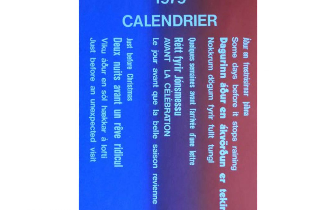 Dagatal / Calendar